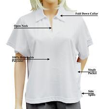 Womens Ladies White Bowls Bowling Uniform Button V Neck Cardigan Jersey S-5XL