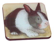 Mini Square Quality Rabbit Black and White Bunny Fridge Magnet Perfect Gift