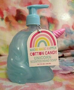 Making Magic Happen COTTON CANDY unicorn hand soap 10oz Paraban Free blue NWT 1