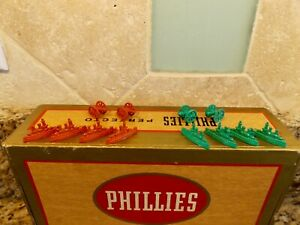 VINTAGE METAL SHIPS AND CANNONS GAME BOARD PIECES CRACKER JACK LOT OF 13