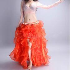 Lady Ruffle Tulle Organza Tutu Skirt Layer Burlesque Petticoat Costume Dance Red