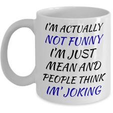 Funny Bad Jokes Coffee Mug - People Think Im' Joking Killing Jokes For Men