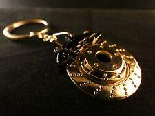 24 Karat Gold Stern Schlüssel Anhänger Bremsscheibe Bremse Brake Sattel Schwarz