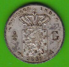 Niederländisch-Ostindien 1/4 Gulden 1857 Silber besser als sehr schön nswleipzig