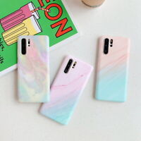 For Huawei Mate 30 20 Pro P30 Lite P20 Matte Marble IMD Soft Silicone Case Cover