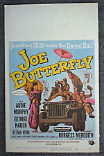 JOE BUTTERFLY orig 1957 movie poster AUDIE MURPHY/GEORGE NADER/CHARLES MCGRAW