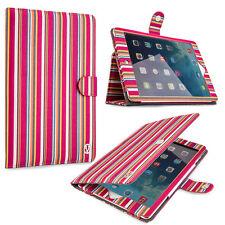 VanGoddy Pink Stripe Portfolio Stand Case With Sleep Mode for Apple iPad Air 2