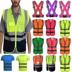 Hi Vis Safety Vest High Visibility Jacket Waistcoat Security Reflective Comfy