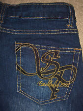 SOUTHPOLE Boot Cut Stretch Dark Denim Jeans Womens Size 5 x 32