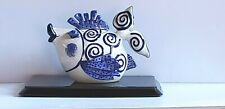 Blue Sky Clayworks Diane Whimsical Flirty Kissing Fish Teapot and Lid