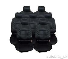 FULL SET 7X BLACK SEAT COVERS CUSHION FOR  7 SEATER CITROEN C4 GRAND PICASSO
