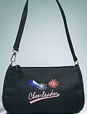 Cheerleader Black Embroidered Pocketbook Purse