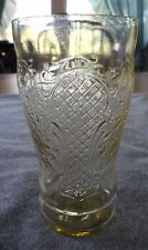 "FEDERAL GLASS AMBER DEPRESSION GLASS NORMANDIE 5"" 12 OUNCE FLAT ICE TEA TUMBLER"