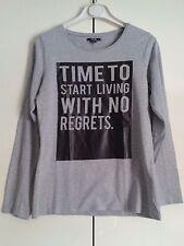 "Maglietta T-Shirt ""Time To Start"" 14 anni Tg. XS 152/158 cm colore Grigio KIabi"