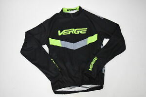 Verge Kid's XL Classic Race Long Sleeve Cycling Jersey Black/Green