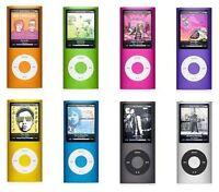 Apple iPod Nano 4th 8GB 16GB MP3 Player Blue Silver Green Red Purple Grade c