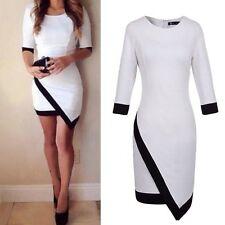 Cotton Blend Crew Neck Short Sleeve Dresses for Women