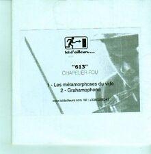 (CX960) Chapelier Fou, 613 - DJ CD