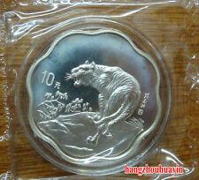 1998 2/3oz lunar animal flower shape silver tiger coin with COA