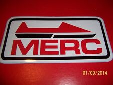 "4"" X 8"" Mercury MERC Sticker (NEW Vinyl)  (Black, Red and White).....L@@K"