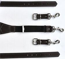 Echt Leder Stark Hosenträger mit Karabiner Haken 110 bis 160 cm Wählbar