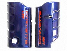 2005-2008 Chevrolet Corvette LS2 Fuel Rail Covers Blue GM 17800104