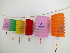 10 M COLOR PAPER LANTERN 4M BUNTING CHINESE BIRTHDAY WEDDING PARTY JAPANESE HPP