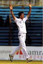 Steven Finn SIGNED England Cricket 12x8 Photo AFTAL COA