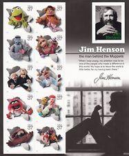 Jim Henson Muppets Sheet of Eleven 37¢ Stamps Scott 3944 - Stuart Katz