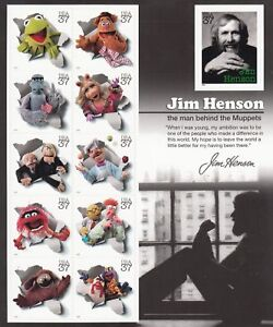 Jim Henson Muppets Sheet of Eleven 37¢ Stamps Scott 3944 - Stuart Katz