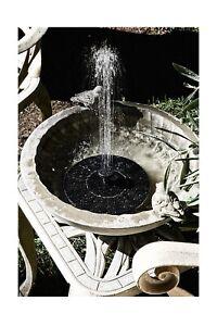 Restoration Hardware Like bird bath fountain solar powered water pump