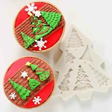 Christmas Tree Silicone Fondant Mold Cake Sugarcraft Topper Chocolate Bake Mould