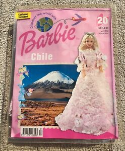 Barbie Doll Discover The World With Barbie Magazine & Clothes Chile No 20 Unopen
