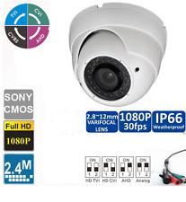 6 PCS HD TVI 1080P Dome Camera 2.4MP 1/2.7 CMOS Varifocal 2.8-12mm 36 IRs USA