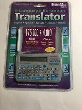 FRANKLIN TWE-106 5 Language European Translator Spanish French German Italian