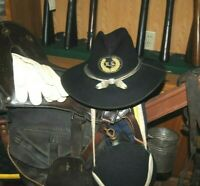 BEAUTIFUL MINTY POST CW GENUINE STETSON CAVALRY HAT TAGS & MARKINGS PRESENT