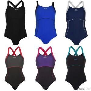 Slazenger Ladies X Back Swim Suit Swimming Costume Swimmers