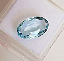 3.65 Carats All Natural Genuine Aquamarine Loose Stone Oval Cut gemstone