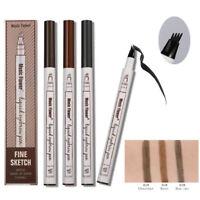 Microblading Eyebrow Tattoo Pen Waterproof Fork Tip Sketch Makeup Chestnut