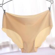 Women Khaki Seamless Invisible Lingerie Briefs Spandex Underwear Panties,M