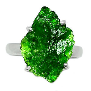 Chrome Diopside 925 Sterling Silver Ring Jewelry s.6.5 BR82842