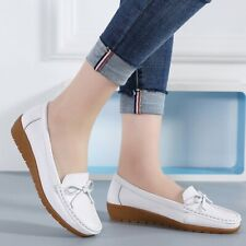 Fashion Women 's Flat Shoes Pull On Casual Slip On Sport Boat Bow Knot Summer