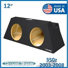 "For Nissan 350z Coupe 2003-2008 12"" Dual Sealed Sub Box subwoofer box Enclosure"