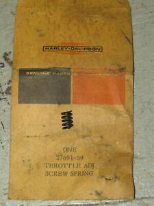 NOS Throttle Adjust Screw Spring, Harley P/N 27691-59 With Original Packaging