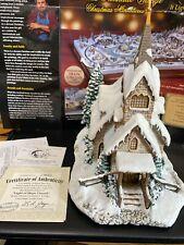 "Hawthorne Village-Thomas Kinkade ""Light of Hope Church"" Lighted.judb"