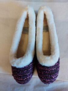 Ladies Womens Lazydog R&R Emily Faux Fur Warm Cosy Comfy Full Slipper Purple