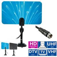 Digital Interior Antena de Tv HDTV Dtv Caja Listas HD Vhf Uhf Diseño Plano 1080P