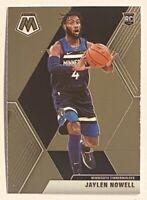 2019-20 Mosaic JAYLEN NOWELL Premium RC, Base Rookie, #212 Timberwolves, Huskies