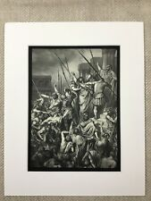Saint Paul Rescued from the Multitude Religious Art Engraving Antique Print
