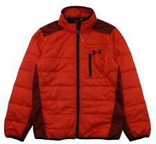 Under Armour Big Boys Red & Black Bubble Jacket Size 10-12 (Medium)